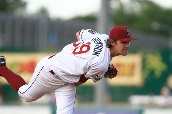 Chad Thompson with the Timber Rattlers in 2012.