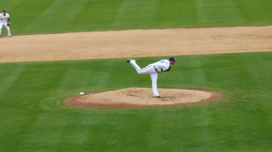 Tyler Thornburg was the starting pitcher for the Brewers.