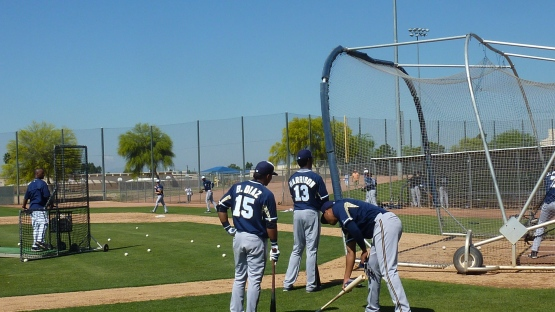 Batting Practice Group #1 gets ready.