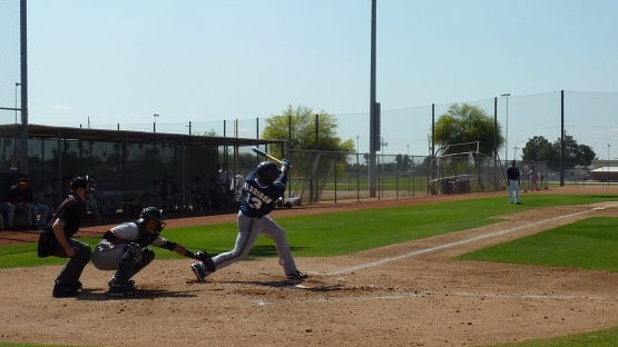 Monte Harrison at the plate.