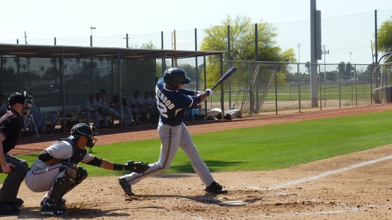 Jake Gatewood takes a swing on Friday.