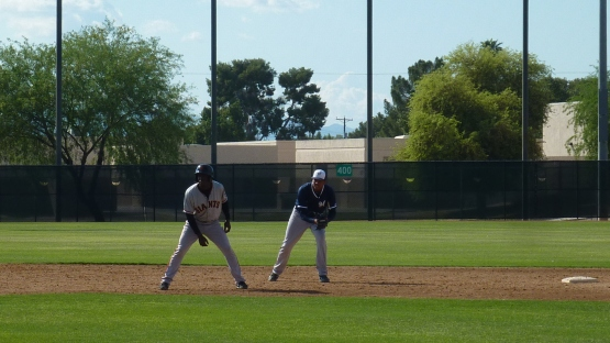 Gilbert Lara at shortstop.