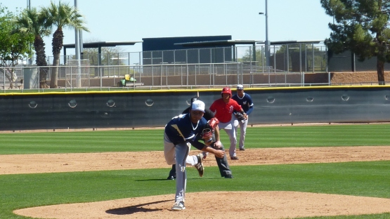 Marcos Diplan on the mound.