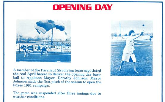 1981 Opening Day