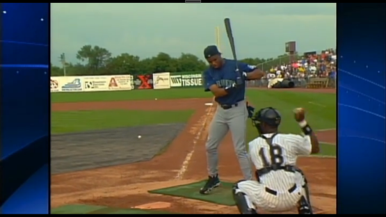 Griffey at the plate during home run derby. (Screencap from KIRO-TV)