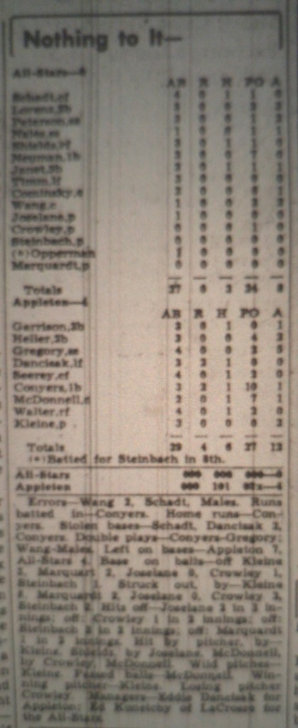 1941 All Star Game Boxscore