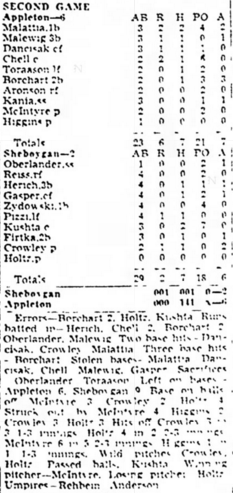 8 30 40 WSL Game Two Boxscore