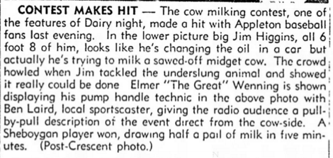 Cow Milking Caption