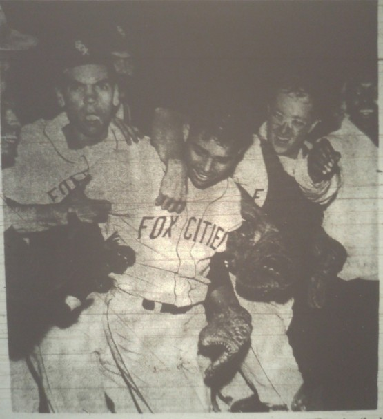 Game 3 1967 MWL Championship Series Photo 1 POST-CRESCENT PHOTO