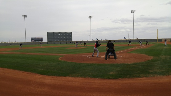 A look at the Cleveland minor league field at Goodyear.